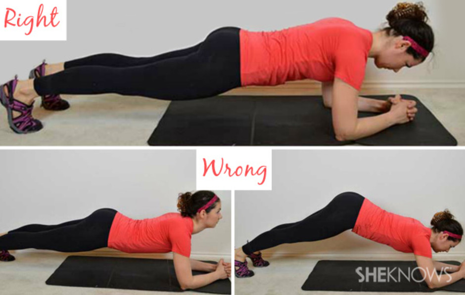 Image result for proper plank form